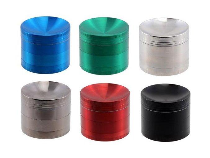 Kovová čtyřdílná drtička Color Concave 50mm