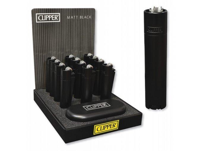 Kovový Zapalovač Clipper ® Matte Black