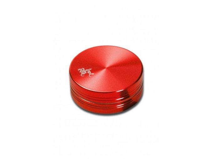 Kovová dvoudílná drtička Black Leaf Red