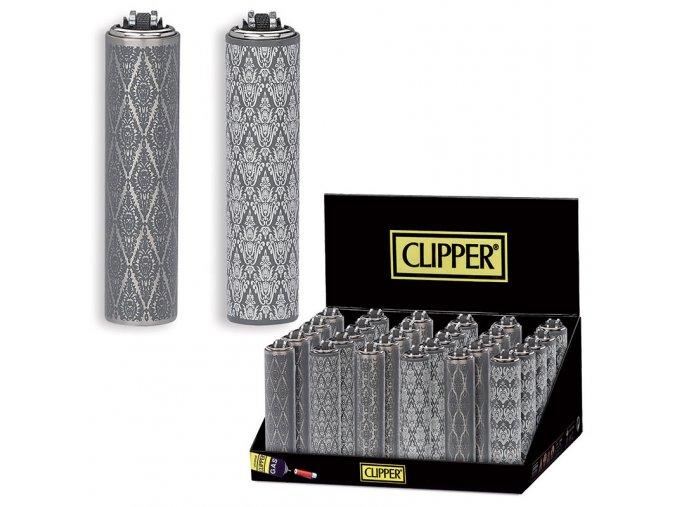 Zapalovač Clipper ® FCP22RH Metal Cover Geometric