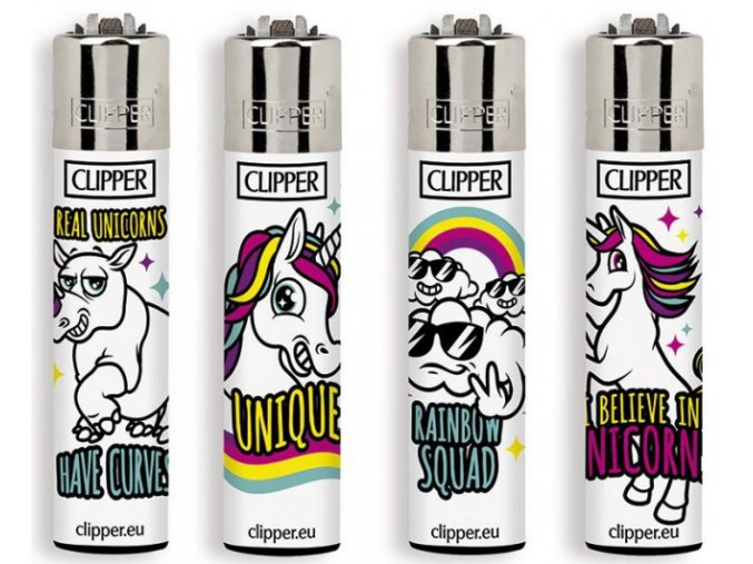 Zapalovač CLIPPER ® CP11RH Unicorn Rainbow