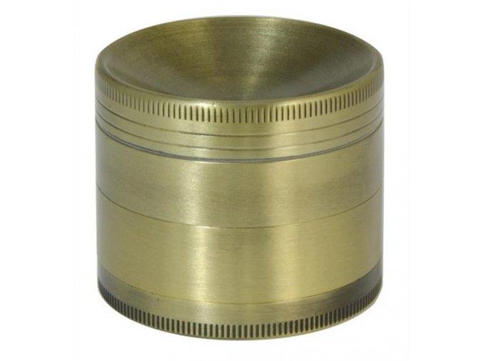 Kovová čtyřdílná drtička Bronze Concave