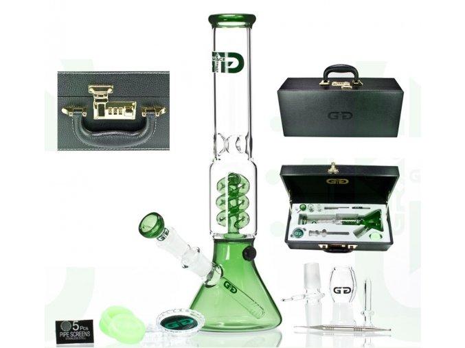 Skleněný bong Grace Glass OG The Sphere Box Green