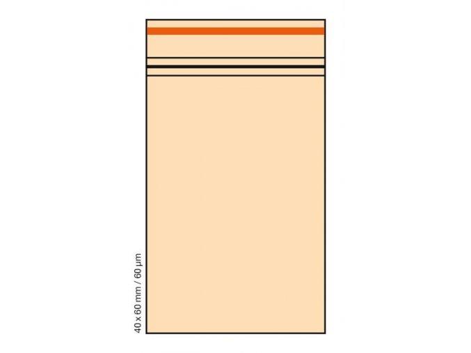 Plastové sáčky Orange 4x6 cm