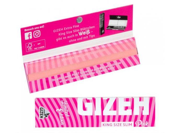 Růžové papírky Gizeh Papers Limited