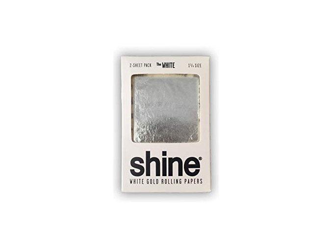 Zlaté papírky Shine 24k White Gold Double 1/4