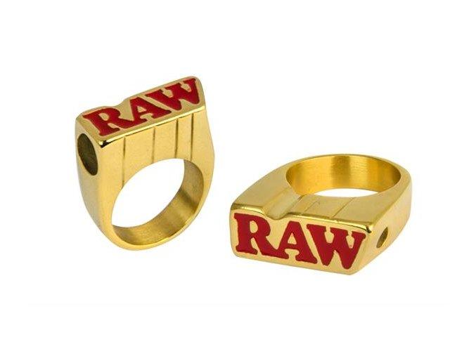 Zlatý prsten Raw Smokers Gold Ring Size 11