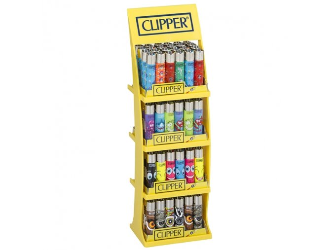 Plastový stojan Clipper Lighters 4 x 24