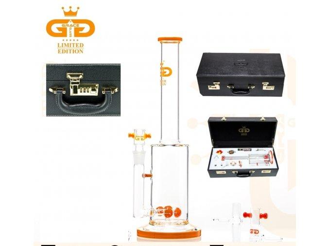 Skleněný bong Grace Glass Limited Series Red Pipe Luxury Set