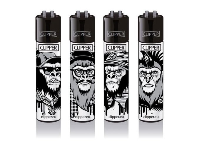 Zapalovač CLIPPER ® CP11RH Black Monkeys