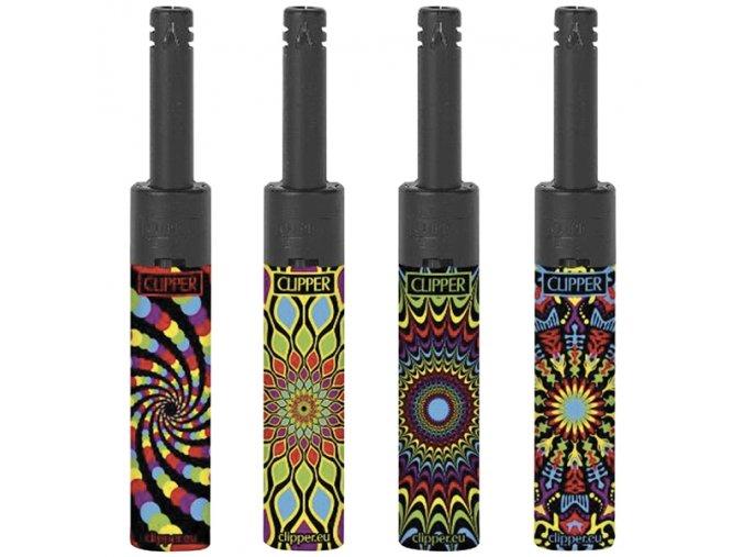 Zapalovač CLIPPER ® Minitube Black Pattern