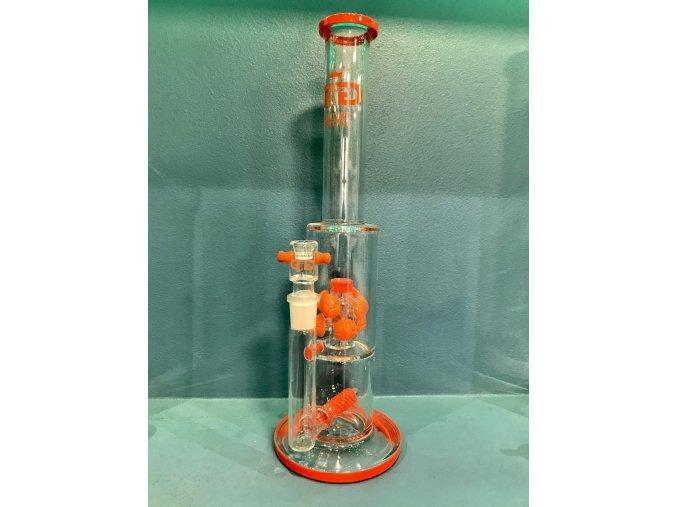 Skleněný bong Grace Glass Limited Series Pink Atom Luxury Set