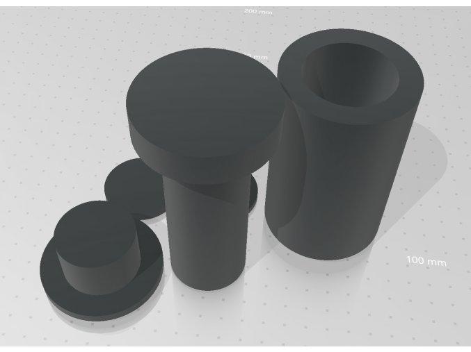 Plastový Rosin Pre-Press Mold Space Stoners Medium