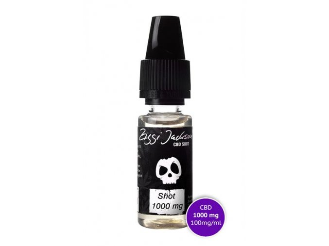 E-Liquid Ziggi Jackson CBD 1000 mg CBD SHOT