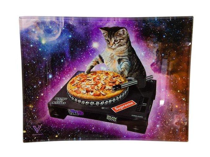 Skleněná balící podložka Syndicate DJ Cat Pizza Vinyl Mini