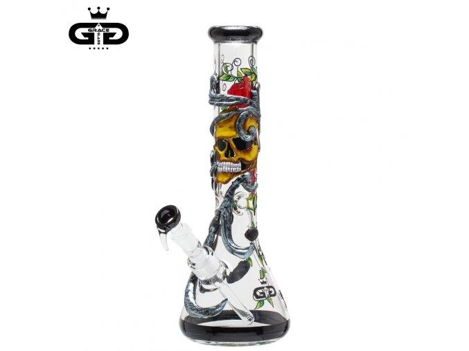 Skleněný bong Grace Glass Art Skull Beaker