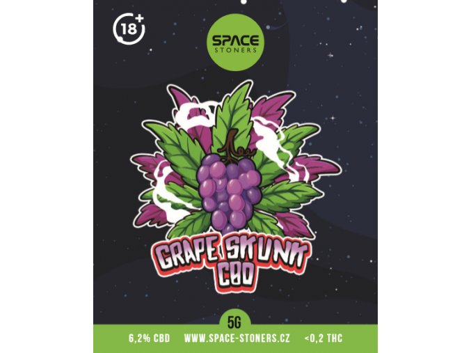 CBD Weed Space Stoners Grape Skunk CBD 6,2 % 5 G