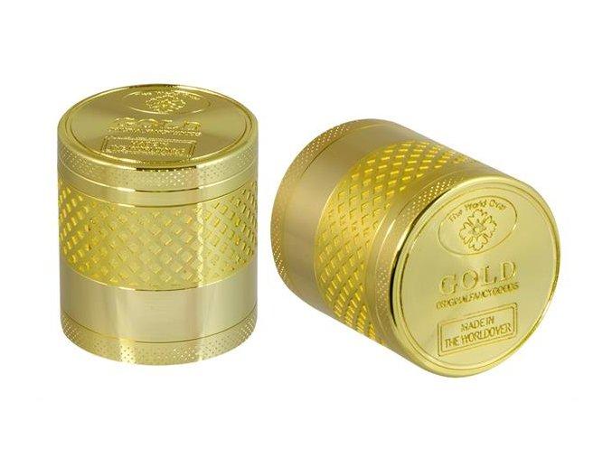 Kovová čtyřdílná drtička Gold Bar