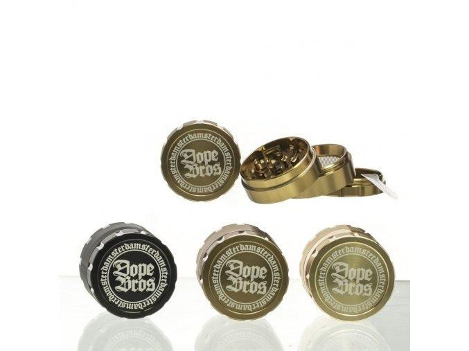 Kovová čtyřdílná drtička Dope Bros Color