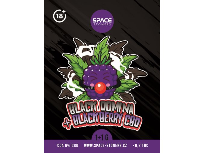 CBD Weed Space Stoners Black Domina LimitAed Pack CBD 6 % 1+1 G