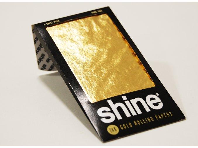 Zlaté papírky Shine 24k King Size