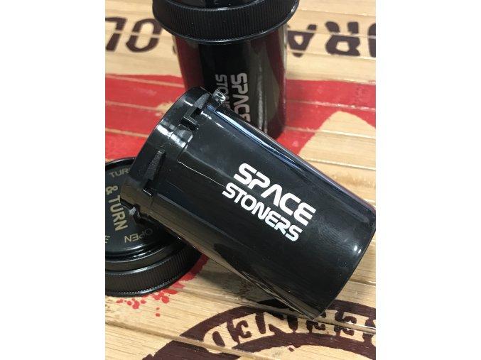 Vzduchotěsná dóza Push & Down Space Stoners Black 40 ml