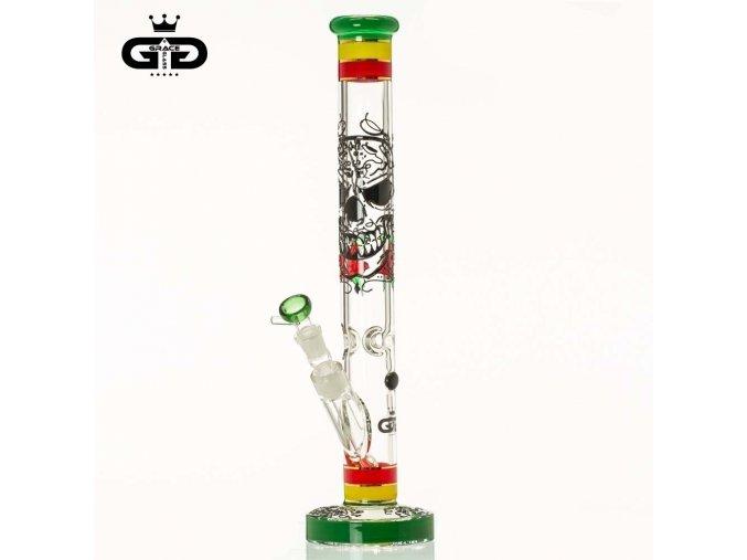 Skleněný bong Grace Glass HAMMER Series Rasta Death