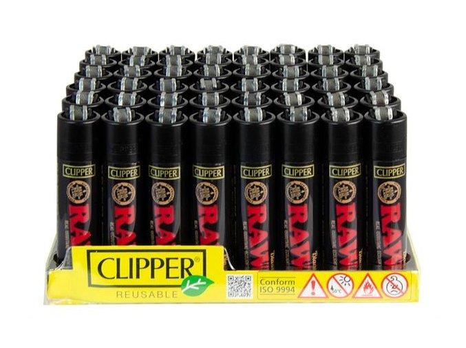 Zapalovač CLIPPER ® CP11H Raw Papers Black Edition