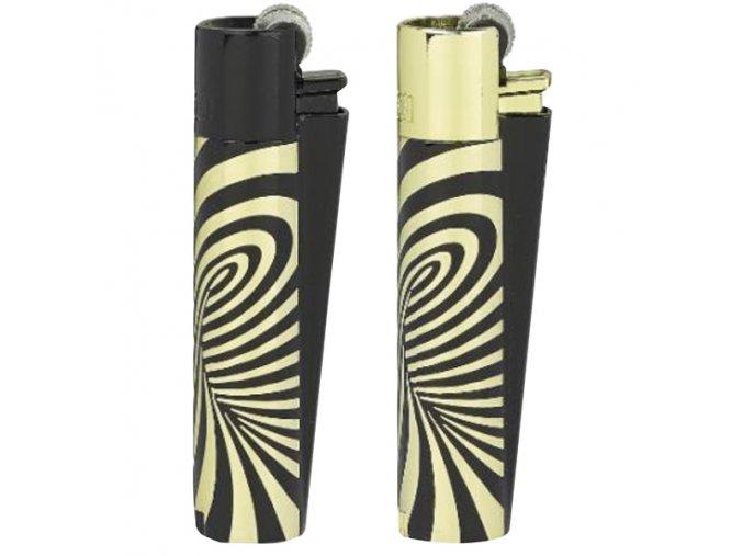 Kovový Zapalovač Clipper ® Psychedelic Gold /Zlatý