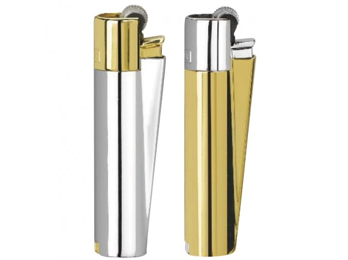 Kovový Zapalovač Clipper ® Pen Gold + Silver