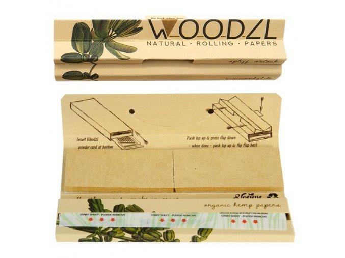 Zajímavé balení, kde najdete vše, co je potřeba, k balení bylinných směsí.  Konopné papírky WoodZL s filtry + skládací papírová balící podložka v balení, která se díky magnetům neztratí. Drtící karta brzy k dostání