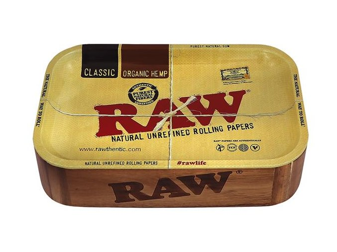 Dřevěná balící stanice Raw Papers Wooden Cache Box