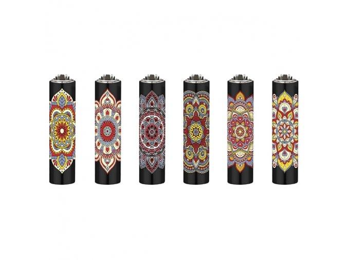 Zapalovač Clipper ® FCP22RH Metal Cover Mandala Flower