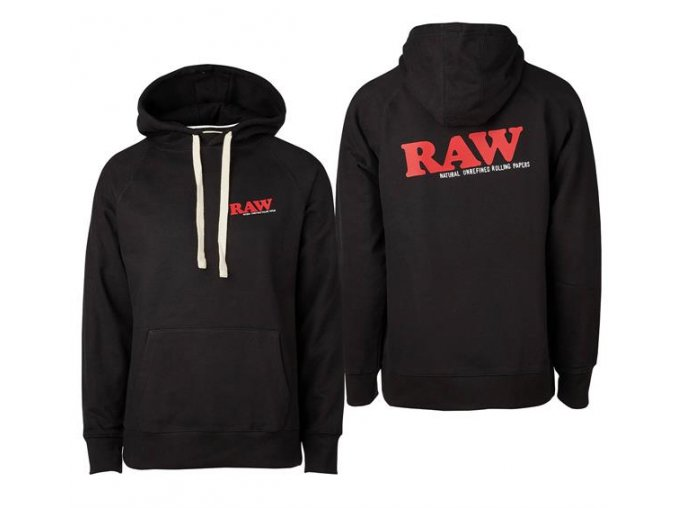 Mikina s kapucí Hoodie Raw Papers Classic Logo Black