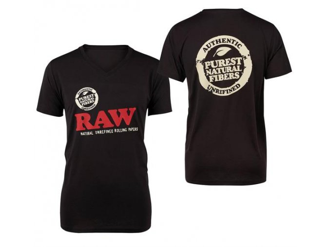 Triko Raw Rolling Papers Shirt Raw Classic Logo BlackTEX HS 13871 01