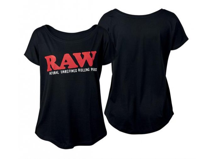 Dámské Triko Raw Rolling Papers Shirt Raw Classic Logo Black