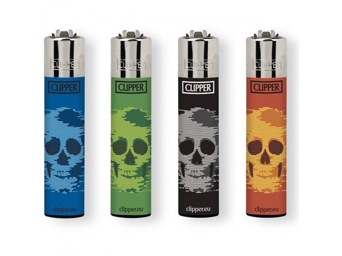 Zapalovač CLIPPER ® CP11RH Blurry Skulls
