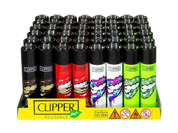 Zapalovač CLIPPER ® CP11RH Lips Black