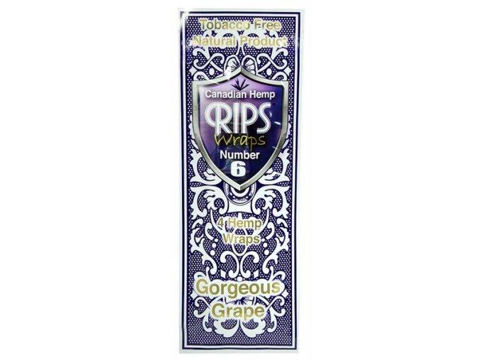 Konopné blunty RIPS Hemp Ultra 4pack No.6 Grape