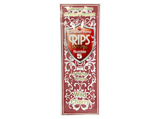 Konopné blunty RIPS Hemp Ultra 4pack No.5 Wild Cherry