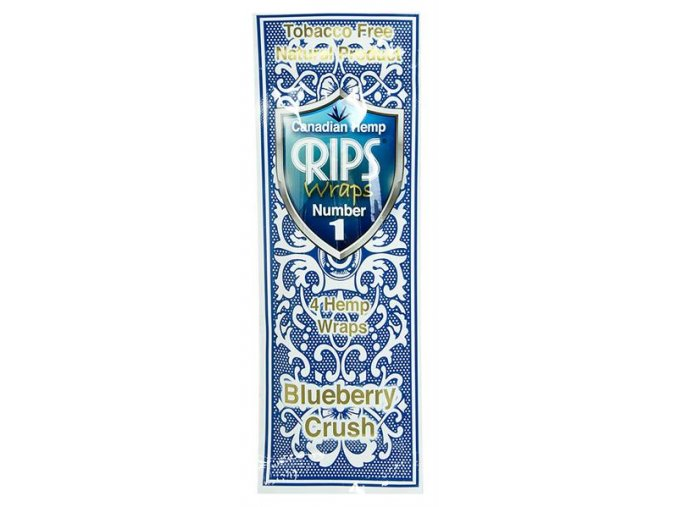 Konopné blunty RIPS Hemp Ultra 4pack No.1 Blueberry CrushRIPS HW 01 02