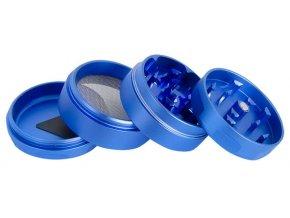 Kovová čtyřdílná drtička Champ Rotor BluePOLI 118 03