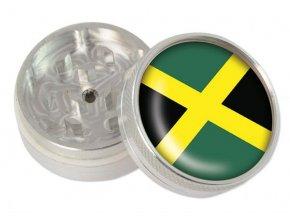 Kovová dvoudílná drtička Jamaica Flag