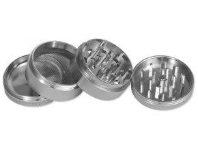 Kovová čtyřdílná drtička Silver