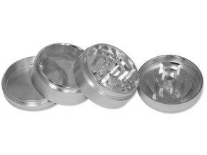 Kovová čtyřdílná drtička rotor-mlýnek Silver