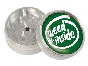 Kovová dvoudílná drtička Weed Inside