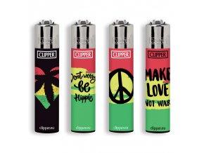 Zapalovač CLIPPER ® CP11RH Jamaican Leaves