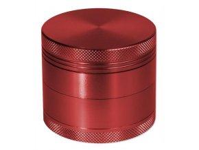 Kovová čtyřdílná drtička červená