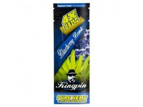 Konopné blunty Kingpin 4pack Borůvka