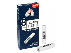 Uhlíkové filtry Gizeh Black Slim 10